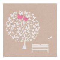 Hübsche Hochzeitskarte Mit Schmetterlingen Und Süßer Bank Auf Coolem  Packpapier